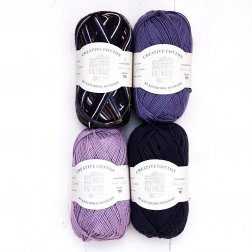 Creative Cotton x 4 - Navy Blue/Purple