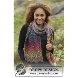 Drops Sjal Rainbow Ripples 171-17